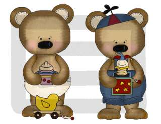 FISHING CAMPING BEARS BABY NURSERY WALL STICKERS DECALS