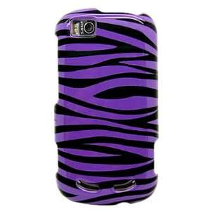 Snap on Plastic With PURPLE BLACK ZEBRA Design Sleeve Faceplate Cover