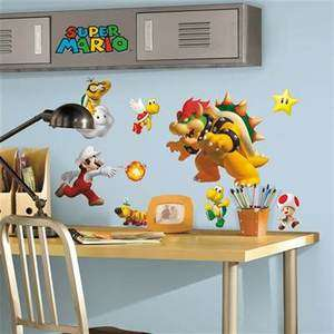 NINTENDO 35 Wall Decals Stickers Baby Luigi Bowser Yoshi Lakitu