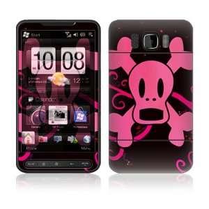 HTC HD2 Decal Vinyl Skin   Pink Screaming Crossbones