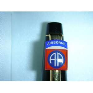 Lacquer & 23 Kt Gold 82nd Airborne Logo on Cross Pen: Everything Else