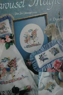 Carousel Magic cross stitch Leisure Arts 2366 horses 028906023664