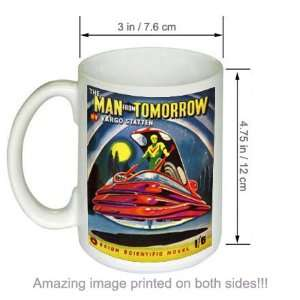 Man From Tomorrow Vintage Sci Fi Fantasy Art COFFEE MUG