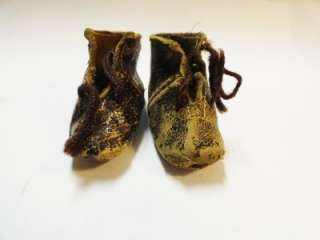 DS229 Antique Jumeau Bru Tete French Leather Bisque Doll Shoe Stamped
