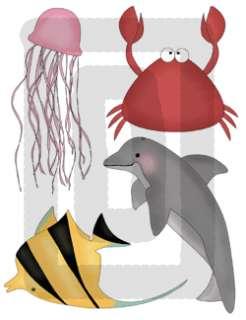 SEA LIFE FISH BABY NURSERY WALL DECOR STICKERS DECALS