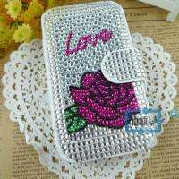 Rhinestone Bling Wallet Case Cover F iPhone 3 3G/S#A530