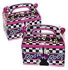 ROLL TREAT BOX/Bag/Star/Birthday Party Favor/Supply/Sock Hop/Dance