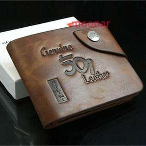 New Cool Mens Genuine Leather Bifold Wallet Multi Pocket Credit Card