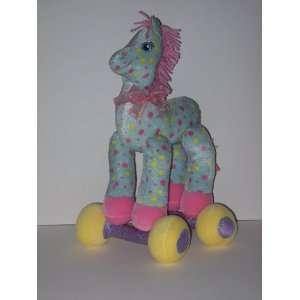 Plush Pastel Polka Dot Horse for Nursery Baby