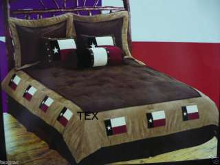 Cowboy Western Texas Flag QUEEN Comforter Bedding Set 7