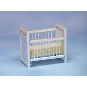 Dollhouse Miniature White/Yellow Crib