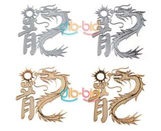 2X Car Auto Chinese Dragon Emblem Badge Decal Sticker S