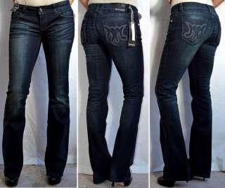 MEK Denim Womens MARRAKECH Jeans Slim Boot Cut   28