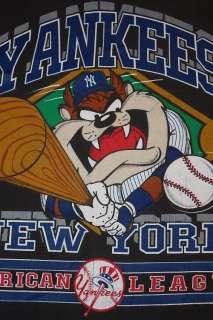 XS * vtg 90s 1993 NEW YORK YANKEES taz T SHIRT * mlb baseball