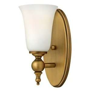 Sconce, Brushed Bronze Finish with Etched Opal Glass