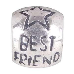 Q2 Best Friend Bead Fits Pandora Chamilia Style Bracelet
