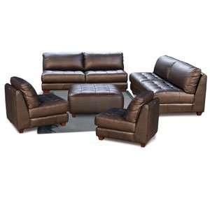 Diamond Sofa Zen Collection Leather Tufted Seat Sofa