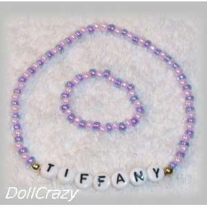Purple/Pink NAME NECKLACE for 18 American Girl Dolls Toys & Games