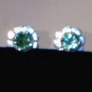 Green Tsavorite Garnets Handmade Sterling Silver Studs, Post Ladies