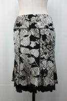 Joseph Ribkoff Black Beige Floral Print Skirt Size 8 10 New NWT UK 10