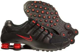 New Mens Nike Shox NZ Black/Chilling Red Running Tennis Shoes R4