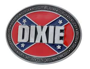 Dixie Rebel Flag Belt Buckle Southern Pride South Redneck