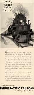 1942 Ad Union Pacific Railroad Train Railway WWII   ORIGINAL