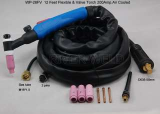 SR)WP 26FV 12E 2 TIG welding Flexible Valve torch Body