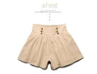 Women Military High Waist Shorts Skorts 7103G,GREEN, S