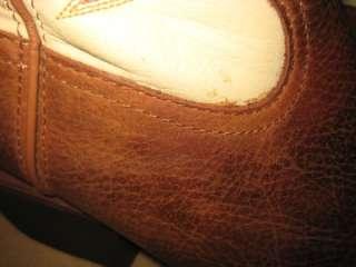 TONY LAMA Rare Tall Rojo Bridle Tan Cream Leather Cowboy Boots Men 7.5
