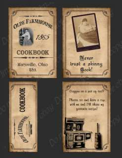 Primitive Label Set to Make Your Own Book   #FH308