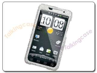 Bling Silver Rhinestone Diamond Case Cover HTC Evo 4G