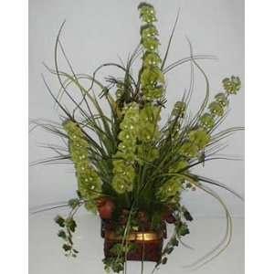 30 Bells of Ireland & Ivy Silk Flower Arrangement