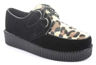 Wedge Heel Lace Up Platform Goth Punk Creepers Shoes Size New