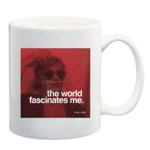 THE WORLD FASCINATES ME Andy Warhol Quote Mug Coffee Cup