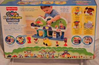 FISHER PRICE LITTLE PEOPLE ANIMALVILLE TOWN CENTER PLAYSET NEW