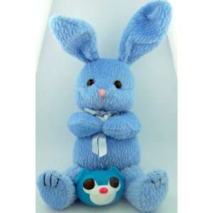 Blue Stuffed Animal Easter Bunny Teddy Bear with Candy