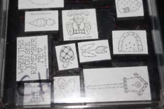 Up Rubber Stamp Lot Baskets Quilt Sheep Apple friendship & More