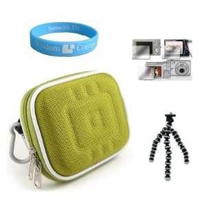 Slim Sized Digital Camera Green Case for 3rd Generation Flip UltraHD