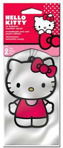 Hello Kitty Car and Home Air Freshener, Strawberry Scent (Pack of 2