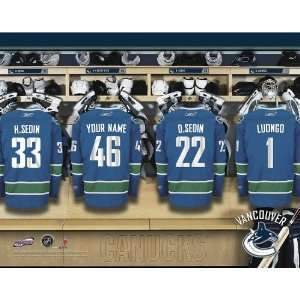 Personalized Vancouver Canucks Locker Room Print Sports