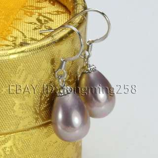 ship dangle 8mm 11mm white black pink drip shell pearl earrings