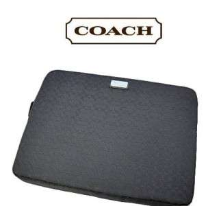 Coach Black Signature Laptop Sleeve F70292 NWT