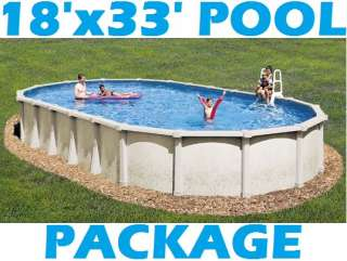 18X33 OVAL ABOVE GROUND SWIMMING POOL PACKAGE 54 TAHITIAN 8 RESIN