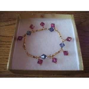 Beautiful 24k Gold Plated Crystal Bracelet