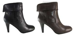 Michael Kors Womens Burke Bootie Black Brown Leather Fashion Ankle