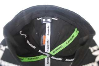 NEW KAWASAKI Curved Bill HAT BLACK flex fit baseball CAP M/L