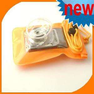 Orange Waterproof Digital Camera Pouch Dry Bag Ski Case
