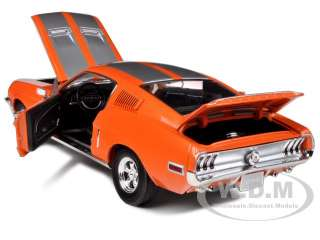 1968 FORD MUSTANG GT FASTBACK ORANGE W/SILVER 10F999 1/18 GREENLIGHT