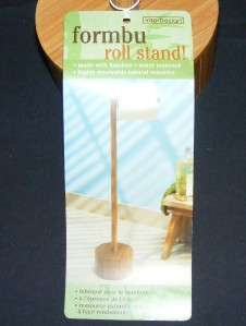 BAMBOO Wood Toilet Paper Roll Stand 23 Interdesign Caddy Holder